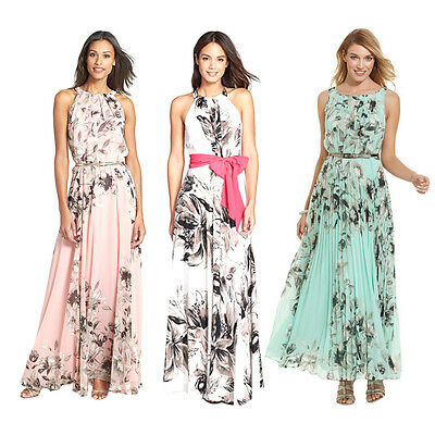 Fahion Women Floral Print Long Maxi Dress Ladies Summer Beach Casual PartySA NN