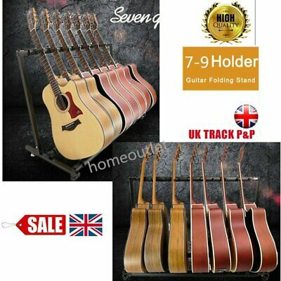 Guitar Stand 7/9 Holder Guitar Folding Stand Rack Band Stage Bass UK Stock