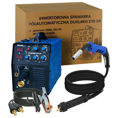 Sherman Inverter Welder Machine 200amp DUALMIG-210 S4 MIG MMA TIG LIFT GASLESS