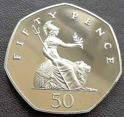 1980 -2007 Elizabeth II 50p Pence Decimal Proof Coin - Choose Your Year