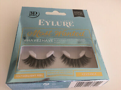 09327450545 Eylure Most Wanted Have 2 Have Silk Effect Re-Usable False Lashes - New &