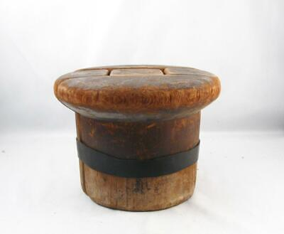 Antique/Vintage Wooden Hat Mold Block Millinery Form In 5 Parts