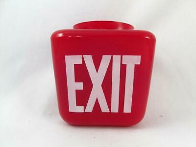 Vintage Industrial Double Sided Red Exit Shade Sign Ceiling Mount