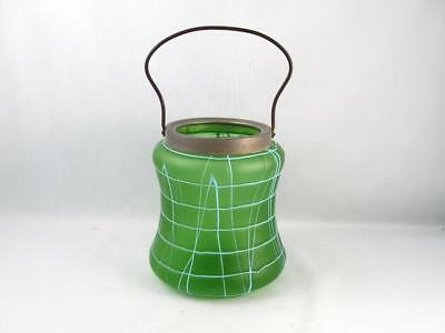 Antique Bohemian/Czech Art Glass Loetz ? Kralik ? Biscuit Jar