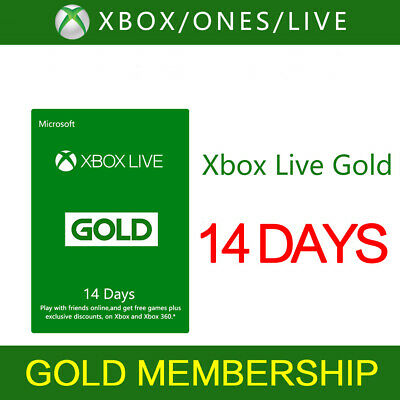 x box XBOXLive 14 days gold Trial Gold Membership Code 2weeks code Fast delivery