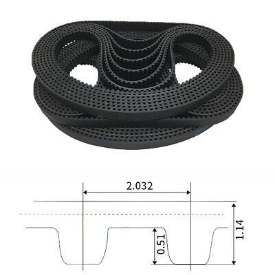 MXL Timing Belt Tooth Pitch 2.032mm Pulley Belt for 6mm Width 3D Printer CNC