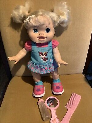 Hasbro Baby Alive Wanna Walk Talks & Walks Baby Doll 35cm Tall Excellent Cond.