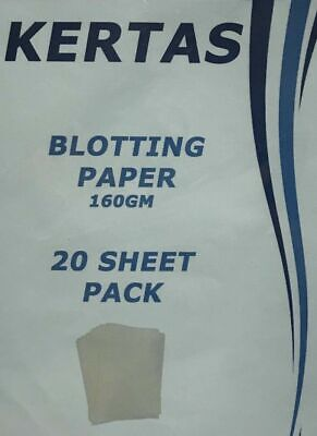 20 x SHEETS OF BLOTTING PAPER CALLIGRAPHY WHITE Size 445mm x 275mm 160gsm