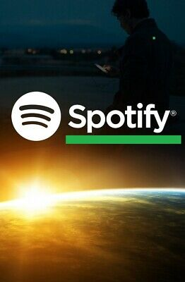 Spotify premium subscription 12 months warranty works worldwide