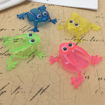 10PCS Jumping Frog Hoppers Game Kids Party Favor Kids Birthday Party Toy PT