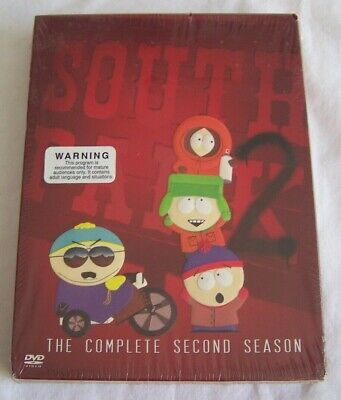 South Park - The Complete Second Season (DVD, 2003, 3-Discs)  Brand NEW Sealed !