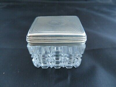 silver and glass inkwell