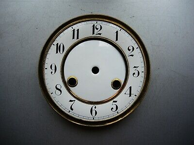 Antique German wall clock JUNGHANS Porcelain DIAL with Mount Gustav Becker HAC a