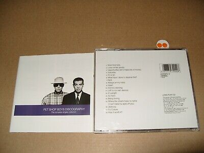 Pet Shop Boys Discography - Complete Singles Collection 1991 cd + Inlays are Ex+