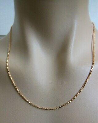 """14k - 18k Solid Shiny Yellow Gold 19 1/2"""" Long Rope Chain 1.8mm Wide 5.4 Grams"""