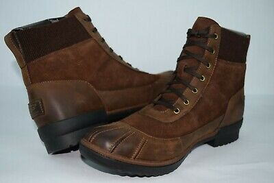 87fae3a7a05 UGG CAYLI COCONUT Brown Leather Waterproof Rain Snow Duck Boots Size ...