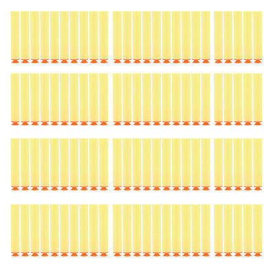 100 Pcs Yellow Refill Darts Bullet for N-Strike Blasters with Sucker EFUS BR