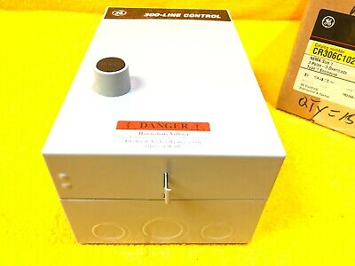 New    Ge Cr306C102 Magnetic Starter Enclosure (New But (2) 1/2' Ko Knocked Out)