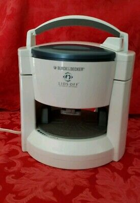 BLACK & DECKER LIDS OFF White Automatic Electric Jar Opener. Tested And Works.