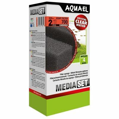 Aquael ASAP 700 Filter Sponge (2) with Carbomax Aquarium Media