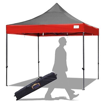 New Hercules Gazebo Black & Red Heavy Duty Commercial Grade Pop Up Marquee Tent