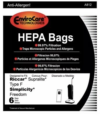 $pecial Simplicity Freedom F// Riccar Supralite Allergen Filter Bags.