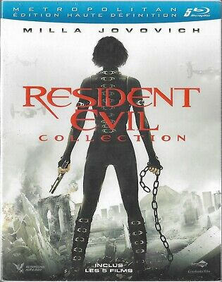 Resident Evil Collection Bluray 5 Films Neuf Sous Blister France