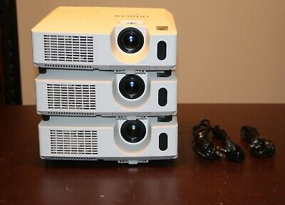 Hitachi CP-X2511 3LCD Projector,Lot of 3.W/ Power Cords Only.1628,1901,3120 Hrs