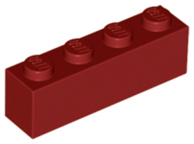 3010 Pack Of 10 Lego 1 x 4 Red Brick