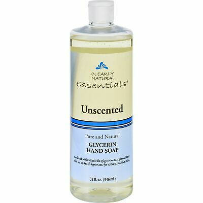 Clearly Natural Liq Soap Unscented Refill 32 Oz 4 Pack