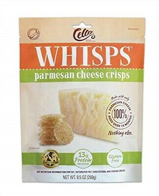 Cello Whisps Parmesan Cheese Crisp, 9.5 Ounce - Pack of 5