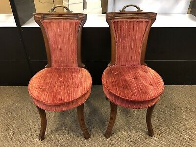Pair HICKORY CHAIR CO. Antique Parlor Style Chairs