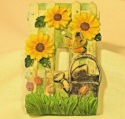 Vintage Light Switch Cover Plate Gardening Flowers Vintage 3D Home Chic Gardener