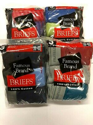 Fruit Of The Loom  Men Color Briefs 12 Pk  In Famous Brand  Bag