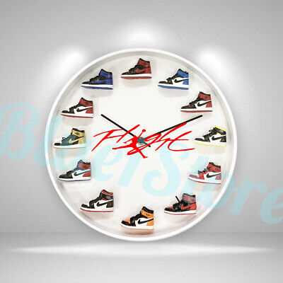 "New Handcrafted 12"" 3D Jordan Sneakers clock OFF white nike supreme hype yeezy"