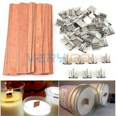 40Pcs Wooden Wick Candle Core Sustainers Tab DIY Candles Making Supplies