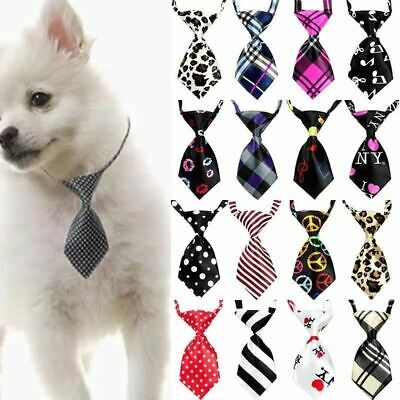 50/100 pcs/lot Mix Colors Pet Cat Dog Tie Puppy Grooming Products Adjustable Rab
