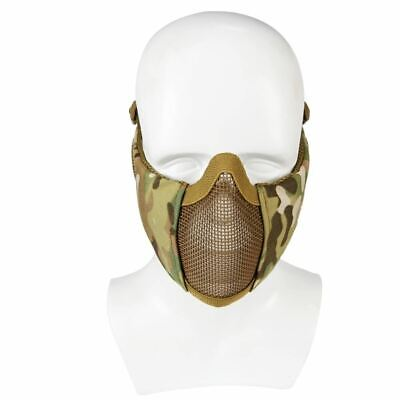Airsoft Mask Half Lower Face Metal Steel Net Mesh Mask Hunting Cycling Tactical