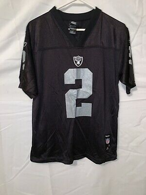e726ee58 JAMARCUS RUSSELL OAKLAND Raiders football jersey youth small Reebok ...