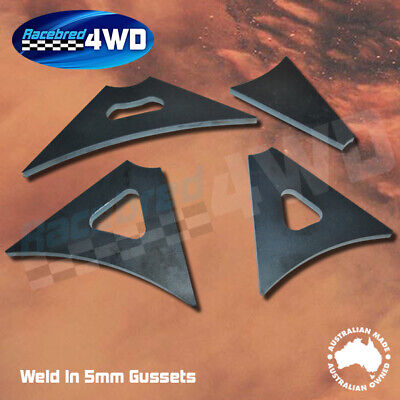 Laser Cut Weld In 5mm Thick 100mm  Length Gusset Style 2