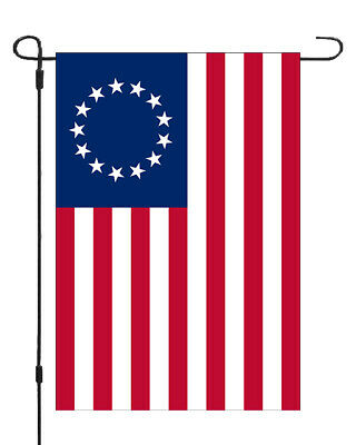 Betsy Ross Era United States Flag Garden Banner Flag 11x14-12x18 MADE IN USA