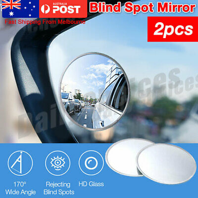 Blind Spot Mirror x 2 Rimless HD Glass Wide Angle Mirrors Rear View