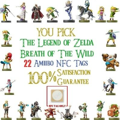 Collection up to 22 - Zelda Breath of the Wild - Amiibo NFC Tags - USA Seller