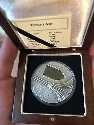 2004 liberia tiffany art  2oz silver coin rare,dont offer ridiculous waste time