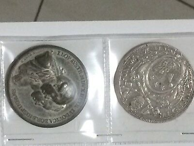 2pc italy papal states vatican pius VI 1775-1780 silver scudo and medal coin