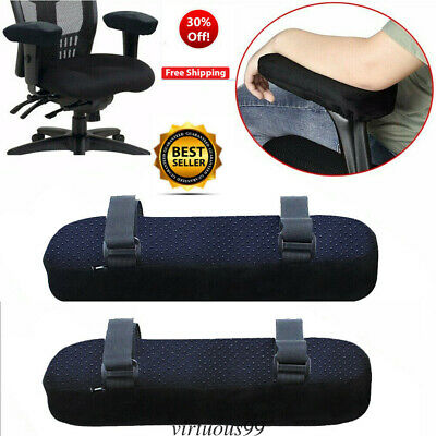 1 Pairs Chair Memory Foam Armrest Cushion Pads Elbow Pillow Arm Rest Cover Soft