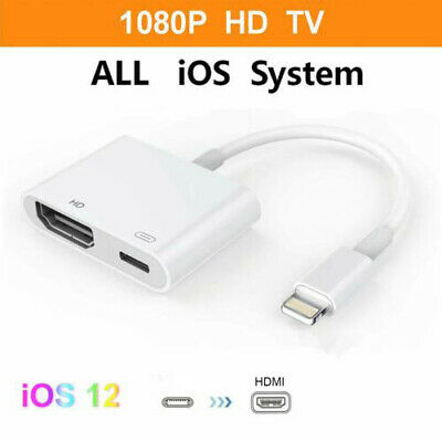 Lightning to HDMI Digital AV TV Adapter Cable for Apple iPad iPhone 6 7 8 Plus X