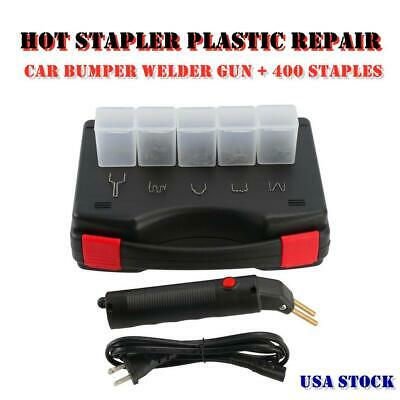 Hot Stapler Car Bumper Fender Fairing Welder Gun Plastic Repair Kit 400 Staples