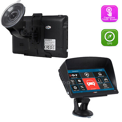 "XGODY 718 7"" Truck Car GPS Navigation Unit Bluetooth AV IN Speedcam 3D Map view"
