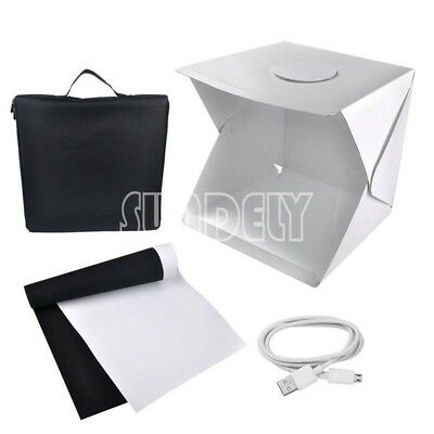 Portable 40CM Mini Photography Lighting Tent Photo Studio Light Box 2 Backdrops